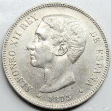 Monedas de España: MONEDA ESPAÑA ALFONSO XII 1875 *18-75 DEM 5 PESETAS PLATA. Lote 254898125