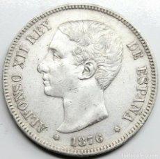 Monedas de España: MONEDA ESPAÑA ALFONSO XII 1876 *18-76 DEM 5 PESETAS PLATA. Lote 254898615