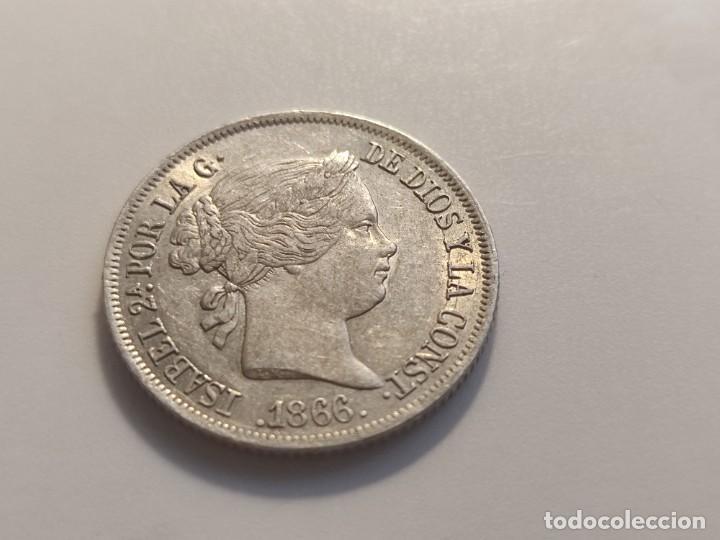 40 CENTIMOS DE ESCUDO 1866 ISABEL II (Numismática - España Modernas y Contemporáneas - De Isabel II (1.834) a Alfonso XIII (1.931))