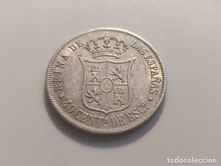 Monedas de España: 40 centimos de escudo 1866 Isabel II - Foto 2 - 254899255