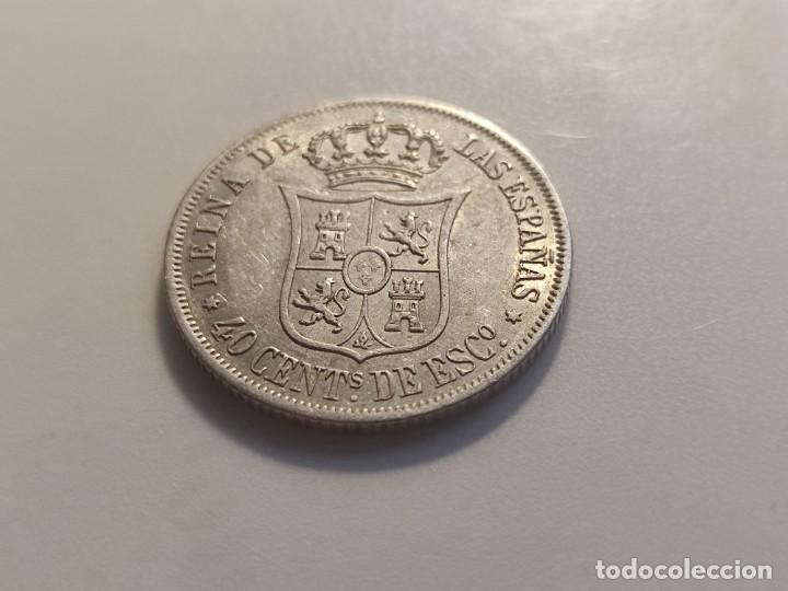 Monedas de España: 40 centimos de escudo 1866 Isabel II - Foto 4 - 254899255