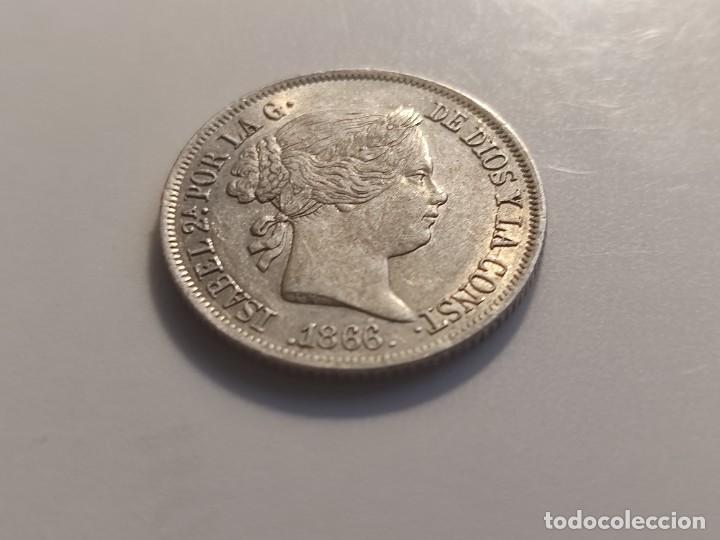 Monedas de España: 40 centimos de escudo 1866 Isabel II - Foto 5 - 254899255