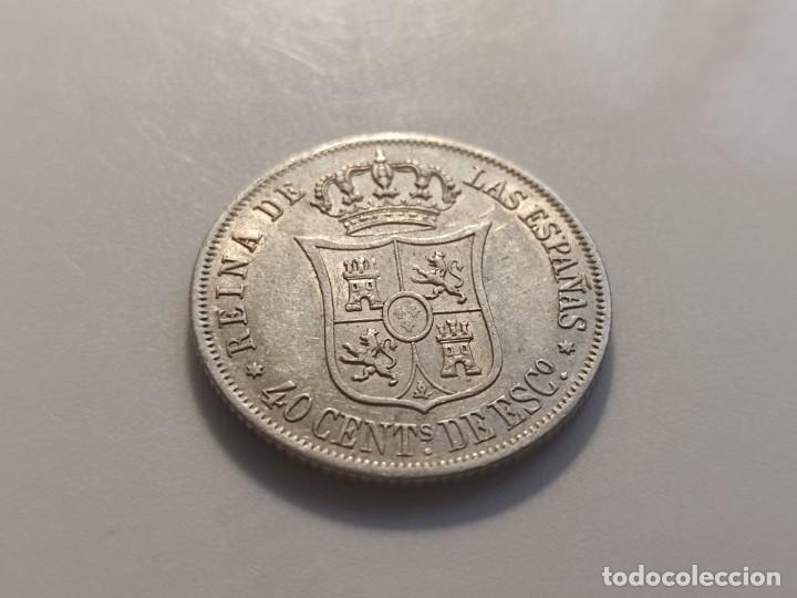 Monedas de España: 40 centimos de escudo 1866 Isabel II - Foto 6 - 254899255