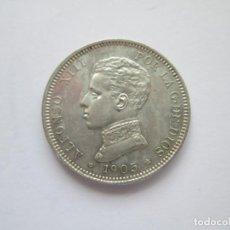 Monedas de España: ALFONSO XIII * 2 PESETAS 1905*05 SM V * PLATA. Lote 254906630