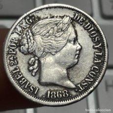 Monedas de España: MONEDA DE PLATA DE 20 CÉNTIMOS DE ESCUDO AÑO 1868 MANILA ISABEL II. Lote 254919450