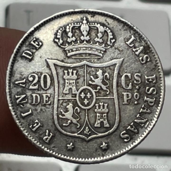 Monedas de España: Moneda de plata de 20 céntimos de Peso año 1868 Manila Isabel II - Foto 2 - 254919450