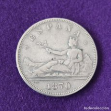Monedas de España: MONEDA DE 2 PESETAS DEL GOBIERNO PROVISIONAL. PLATA. 1870 *18-70. SNM. ESPAÑA. ORIGINAL.. Lote 254940090