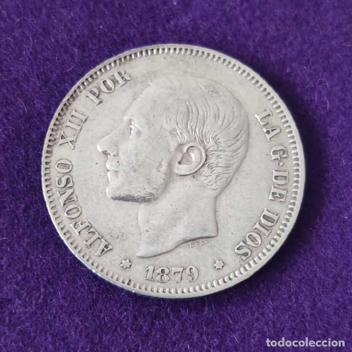 MONEDA DE 2 PESETAS DE ALFONSO XII. PLATA. 1879 *_-79. ESPAÑA. ORIGINAL. (Numismática - España Modernas y Contemporáneas - De Isabel II (1.834) a Alfonso XIII (1.931))
