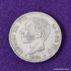 Monedas de España: MONEDA DE 2 PESETAS DE ALFONSO XII. PLATA. 1881 *18-81. ESPAÑA. ORIGINAL.. Lote 254940515