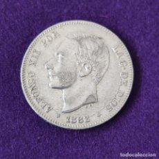 Monedas de España: MONEDA DE 2 PESETAS DE ALFONSO XII. PLATA. 1882 *18-82. ESPAÑA. ORIGINAL.. Lote 254940655