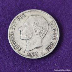 Monedas de España: MONEDA DE 2 PESETAS DE ALFONSO XII. PLATA. 1883 *18-83. ESPAÑA. ORIGINAL.. Lote 254940785
