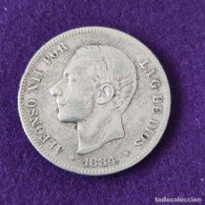 Monedas de España: MONEDA DE 2 PESETAS DE ALFONSO XII. PLATA. 1884 *18-84. ESPAÑA. ORIGINAL.. Lote 254940955
