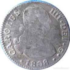 Monedas de España: ESPAÑA, CARLOS IV (1788-1808) 2 REALES DE 1808 SEVILLA CN. CAL-1071./ PLATA (VER DESCRIPCIÓN Y ...).. Lote 255005685
