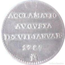Monedas de España: ESPAÑA, CARLOS IV (1788-1808) MEDALLA PROCLAMACIÓN 1789-MADRID. MÓDULO DE 1/2 REAL./ PLATA. Lote 255007055