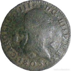 Monnaies d'Espagne: ESPAÑA, CARLOS IV (1788-1808) 4 MARAVEDÍS - 1803 SEGOVIA, CAL-1515. (VER DESCRIPCIÓN Y FOTOS).. Lote 255014085
