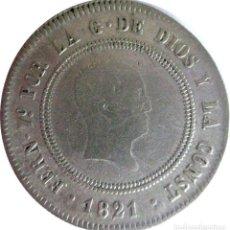 Monedas de España: ESPAÑA, FERNANDO VII (1808+1814/33) 10 REALES - 1821 MADRID, PLATA. (VER DESCRIPCIÓN Y FOTOS).. Lote 255018010