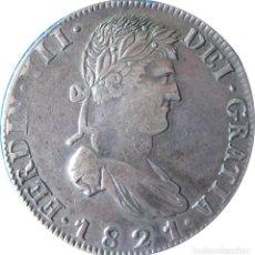 Monedas de España: ESPAÑA, FERNANDO VII (1808+1814/33) 8 REALES - 1821 ZACATECAS RG, CT-591 PLATA. (VER DESCRIPCIÓN.... Lote 255019155