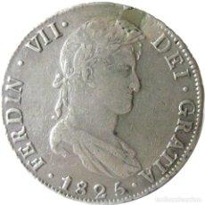 Monedas de España: ESPAÑA, FERNANDO VII (1808+1814/33) 8 REALES - 1825 POTASÍ JL, CAL-618, PLATA. (VER DESCRIPCIÓN.... Lote 255019560