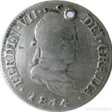 Monedas de España: ESPAÑA, FERNANDO VII (1808+1814/33) 2 REALES - 1814 MADRID GJ, CAL-916, PLATA. (VER DESCRIPCIÓN.... Lote 255022420