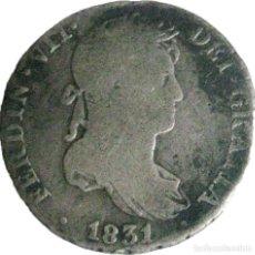 Monedas de España: ESPAÑA, FERNANDO VII (1808+1814/33) 1 REAL - 1831 SEVILLA JB, CAL-1226, PLATA. (VER DESCRIPCIÓN.... Lote 255023920