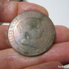 Monedas de España: MONEDA DE 5 CÉNTIMOS DE ESCUDO DE ISABEL II DE 1868 (BARCELONA) COSPEL GRUESO, BONITA. Lote 255027175