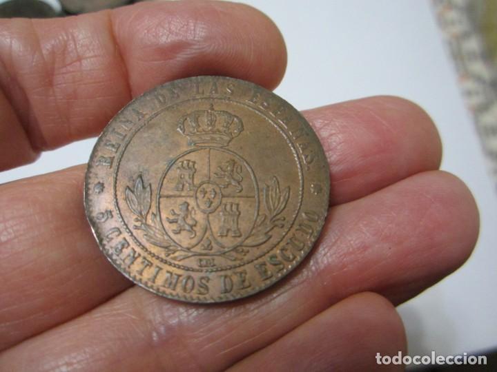Monedas de España: moneda de 5 céntimos de escudo de Isabel II de 1868 (Barcelona) cospel grueso, bonita - Foto 2 - 255027175