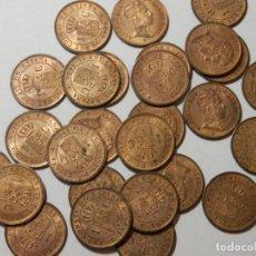 Monedas de España: LOTE X 27 MONEDAS DE 1 CENTIMO DE COBRE DE ALFONSO XIII, 1906, S/C // EBC, BRILLO ORIGINAL. Lote 255567950