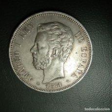 Monedas de España: 5 PESETAS 1871 SD M, ESTRELLAS PERFECTAS 18-71, AMADEO I PLATA, ORIGINAL ¡¡LIQUIDACION COLECCION !!!. Lote 255567985