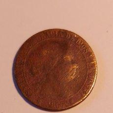 Monedas de España: MONEDA 1 CENTIMO ESCUDO ISABEL II 1868 BARCELONA OM. COBRE. Lote 255568550