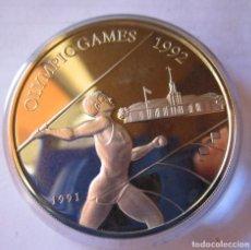 Monedas de España: SAMOA I SISIFO . JUEGOS OLIMPICOS DE BARCELONA . 10 DOLARES DE PLATA CON PESO MAYOR QUE UNA ONZA. Lote 255922325