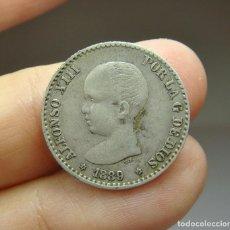 Monedas de España: 50 CÉNTIMOS. PLATA. ALFONSO XIII. 1889 - MPM *8 *9. Lote 257524260
