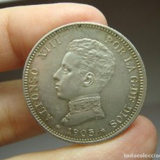 Monedas de España: 2 PESETAS. PLATA. ALFONSO XIII. 1905 - SMV. Lote 257524930