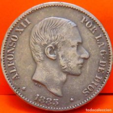 Monedas de España: ESPAÑA, 50 CENTAVOS DE PESO, 1885. ALFONSO XII. PLATA. (1012). Lote 257553005