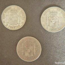 Monedas de España: LOTE DE 3 MONEDAS DE PLATA DE 2 PESETAS. Lote 257607910