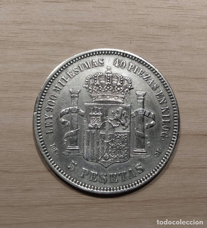 Monedas de España: 5 pesetas 1871, estrellas 18-74. (10) - Foto 2 - 257689200