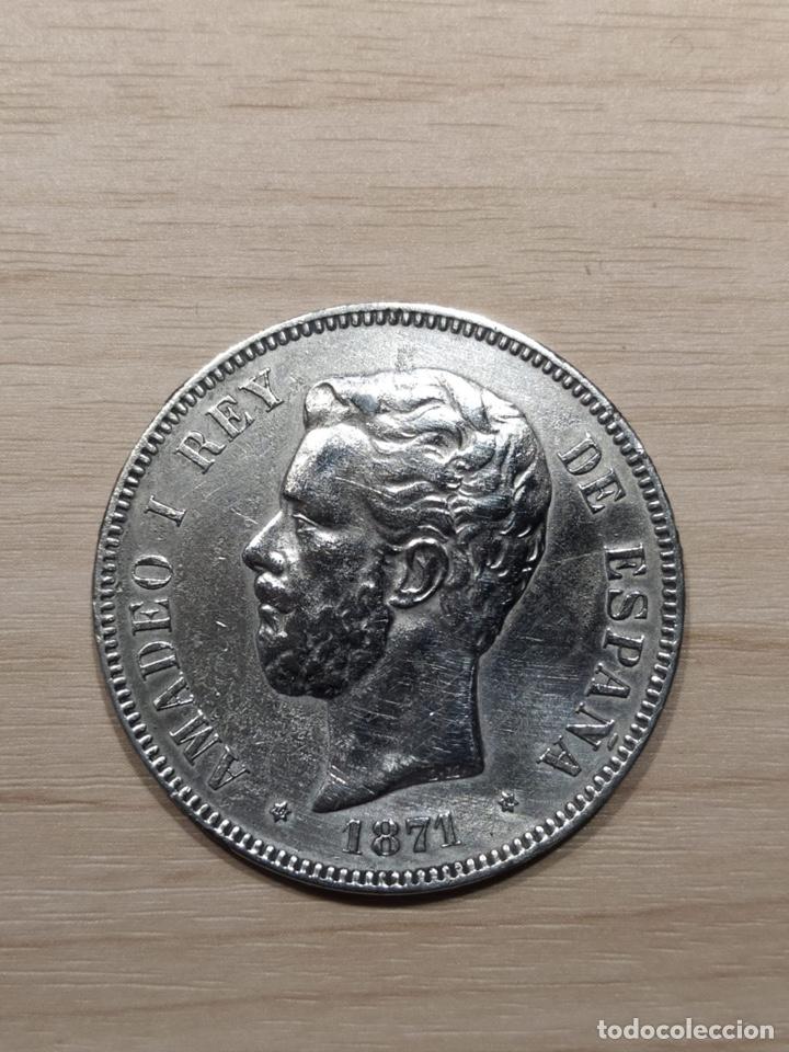 5 PESETAS 1871, ESTRELLAS 18-74. (10) (Numismática - España Modernas y Contemporáneas - De Isabel II (1.834) a Alfonso XIII (1.931))