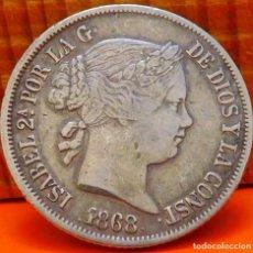 Monedas de España: ESPAÑA, 20 CENTAVOS DE PESO, 1868. ISABEL II. ISLAS FILIPINAS. PLATA. (1017). Lote 257871925