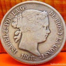 Monedas de España: ESPAÑA, 20 CENTAVOS DE PESO, 1868. ISABEL II. ISLAS FILIPINAS. PLATA. (1019). Lote 257873580