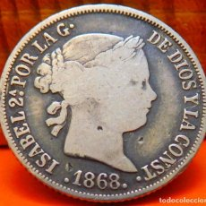 Monedas de España: ESPAÑA, 10 CENTAVOS DE PESO, 1868. ISABEL II. ISLAS FILIPINAS. PLATA. (1024). Lote 257884820