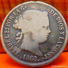 Monedas de España: ESPAÑA, 10 CENTAVOS DE PESO, 1868. ISABEL II. ISLAS FILIPINAS. PLATA. (1025). Lote 257885195