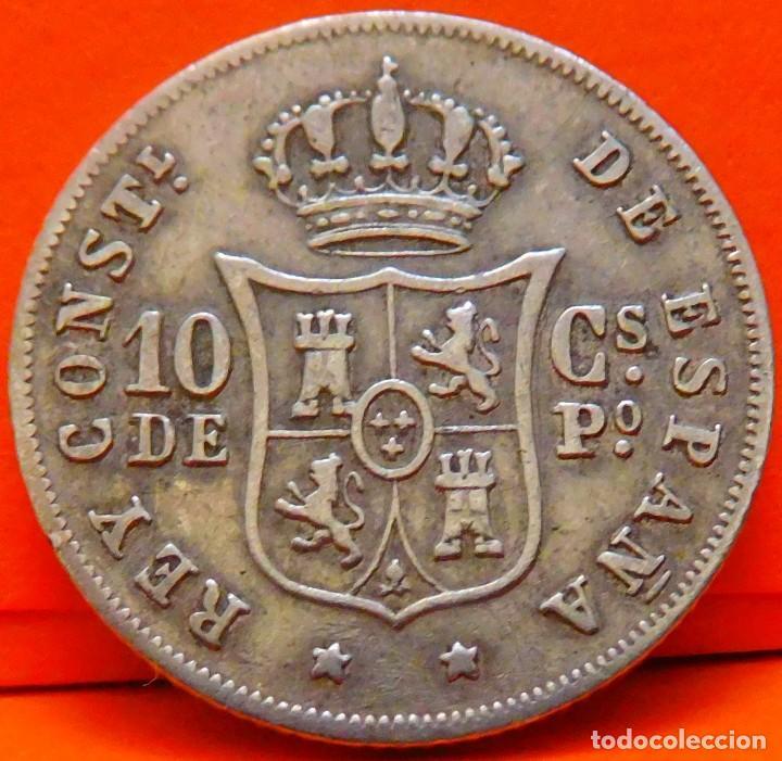 Monedas de España: ESPAÑA, 10 CENTAVOS DE PESO, 1885. ALFONSO XII. ISLAS FILIPINAS. PLATA. (1030) - Foto 2 - 257888825