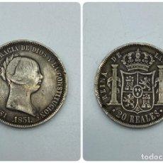 Monedas de España: MONEDA. ESPAÑA. ISABEL II. 20 REALES. 1851. PLATA. MADRID. PESO 25.79 GR. VER FOTOS. Lote 258872760