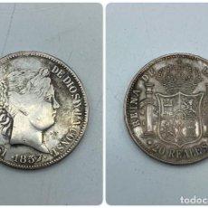 Monedas de España: MONEDA. ESPAÑA. ISABEL II. 20 REALES. 1857. PLATA. MADRID. PESO 25.05 GR. VER FOTOS. Lote 258873845