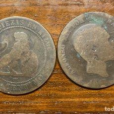 Monedas de España: LOTE 18 MONEDAS DE 10 CÉNTIMOS Y 13 MONEDAS DE 5 CENT. ALFONSO XII O GOBIERNO PROVISIONAL. GASTADAS.. Lote 259033540