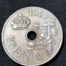 Monedas de España: 25 CÉNTIMOS DE 1927.EXCELENTE CONSERVACIÓN. Lote 259037850