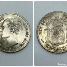 Monedas de España: MONEDA. ESPAÑA. ALFONSO XII. 5 PESETAS. 1881. ESTRELLAS LEGIBLES *18-81*. M.S.M. 25 GR. VER. Lote 259233120