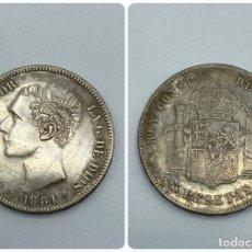 Monedas de España: MONEDA. ESPAÑA. ALFONSO XII. 5 PESETAS. 1881. ESTRELLAS LEGIBLES *18-81*. M.S.M. 25 GR. VER. Lote 259233340