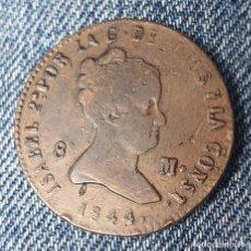 Monedas de España: ISABEL 2ª SEGOVIA 8 MARAVEDIS 1844. BONITA. Lote 259259640