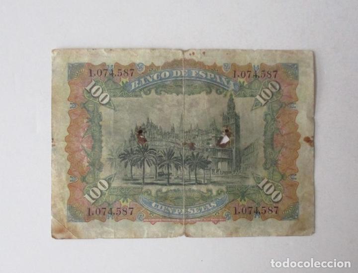 Monedas de España: BILLETE DE 100 PESETAS DEL AÑO 1907 - Foto 2 - 259274315