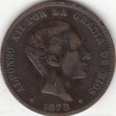 Monedas de España: ALFONSO XII: 10 CENTIMOS 1878 BARCELONA OM. Lote 259921290